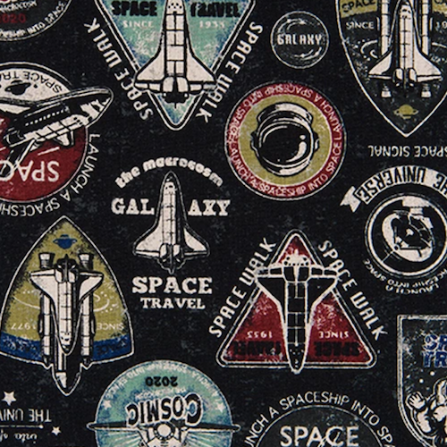 Cosmo Lightweight Canvas - Space Badges (Galaxy)