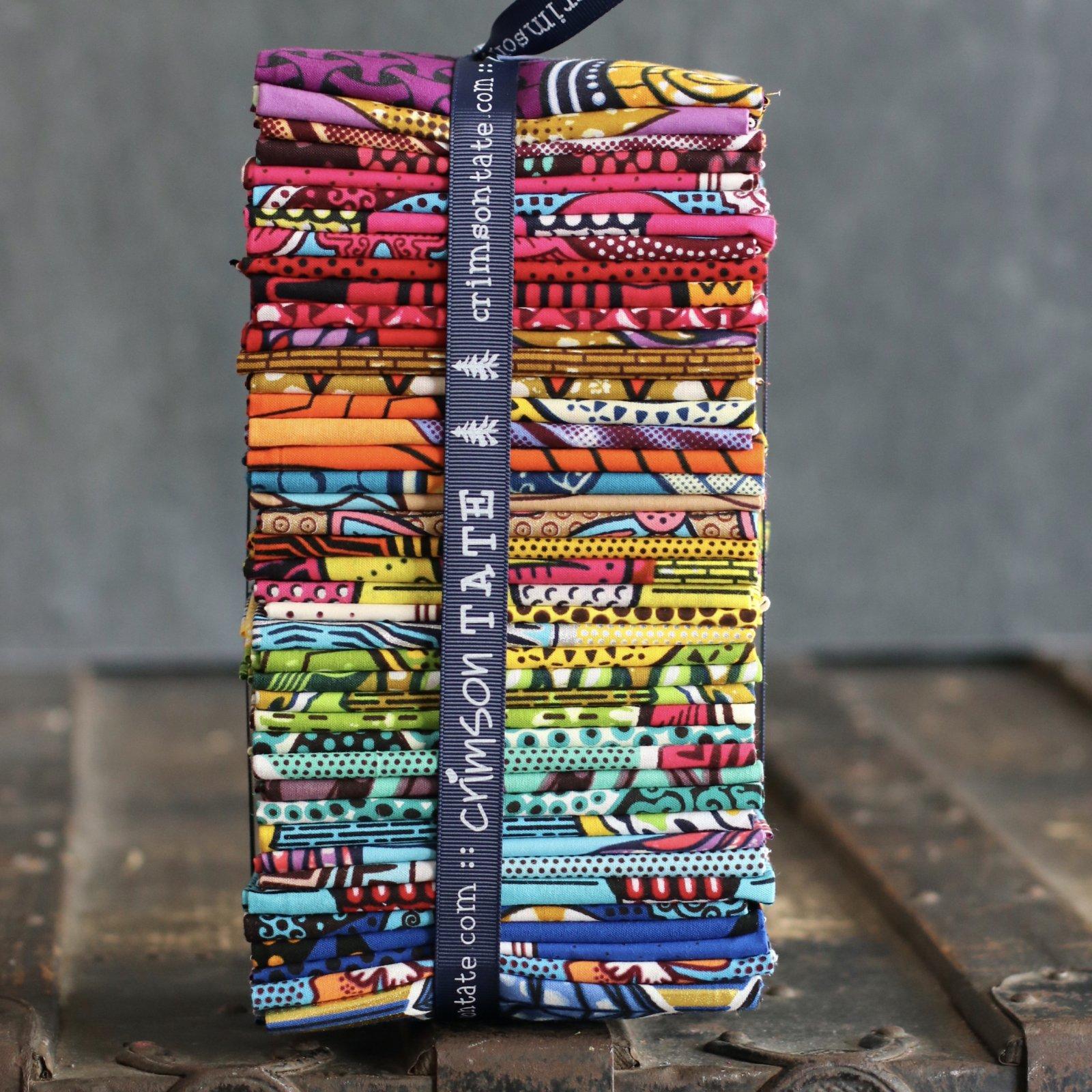 African Wax Block Print - 42 pc. Fat Quarter Bundle