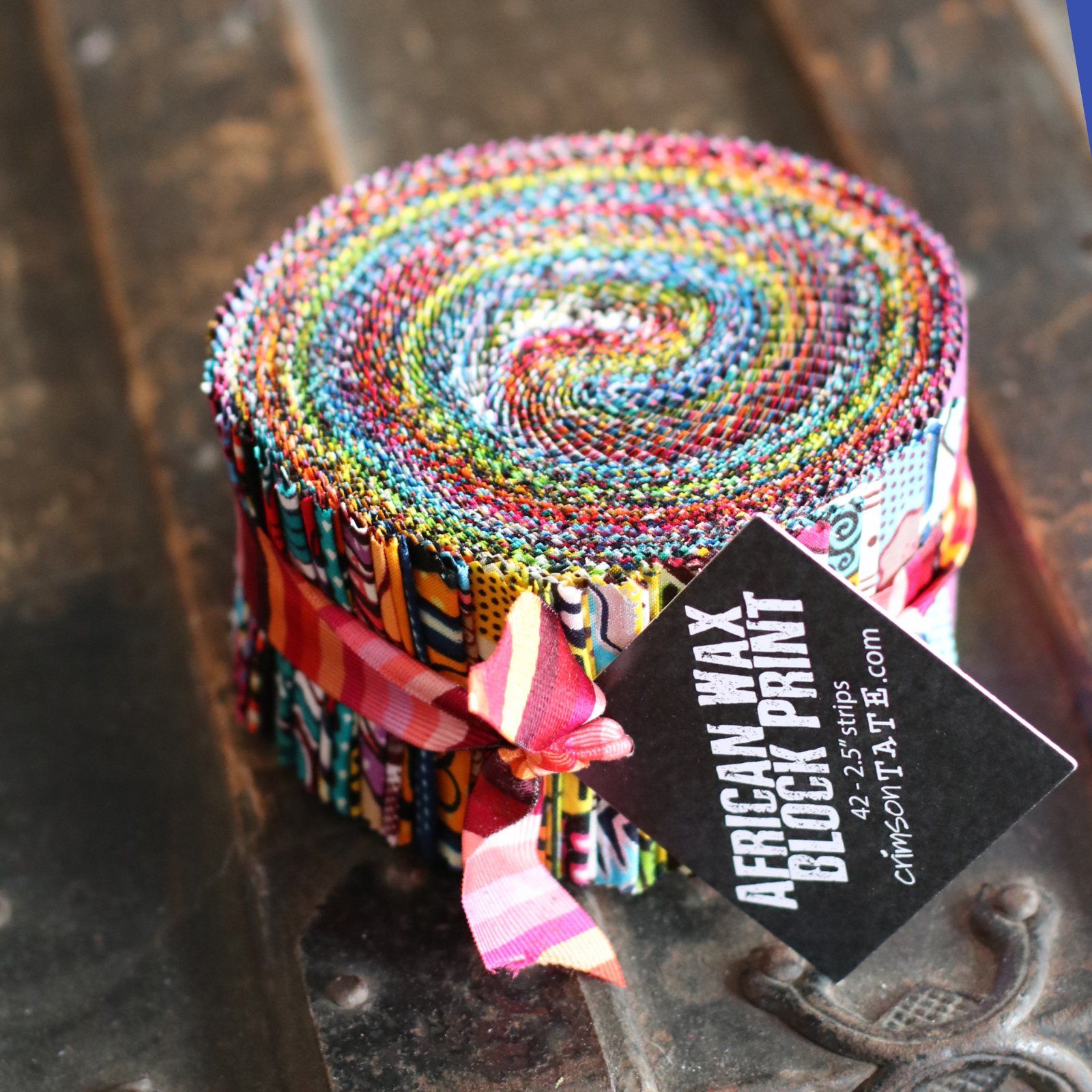 African Wax Block Print Jellyroll - (42) 2.5 strips