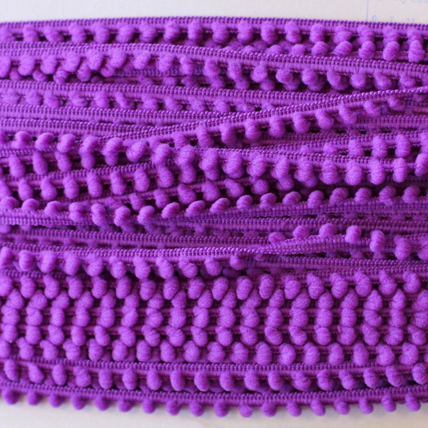 3/8 Baby Pom Pom Fringe (Purple)