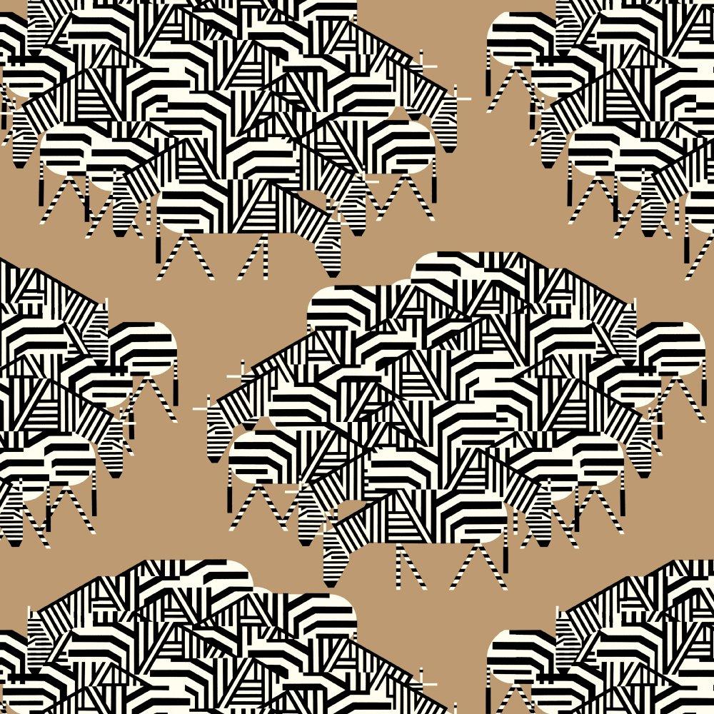 Charley Harper Barkcloth - Serengeti Spaghetti (Safari)