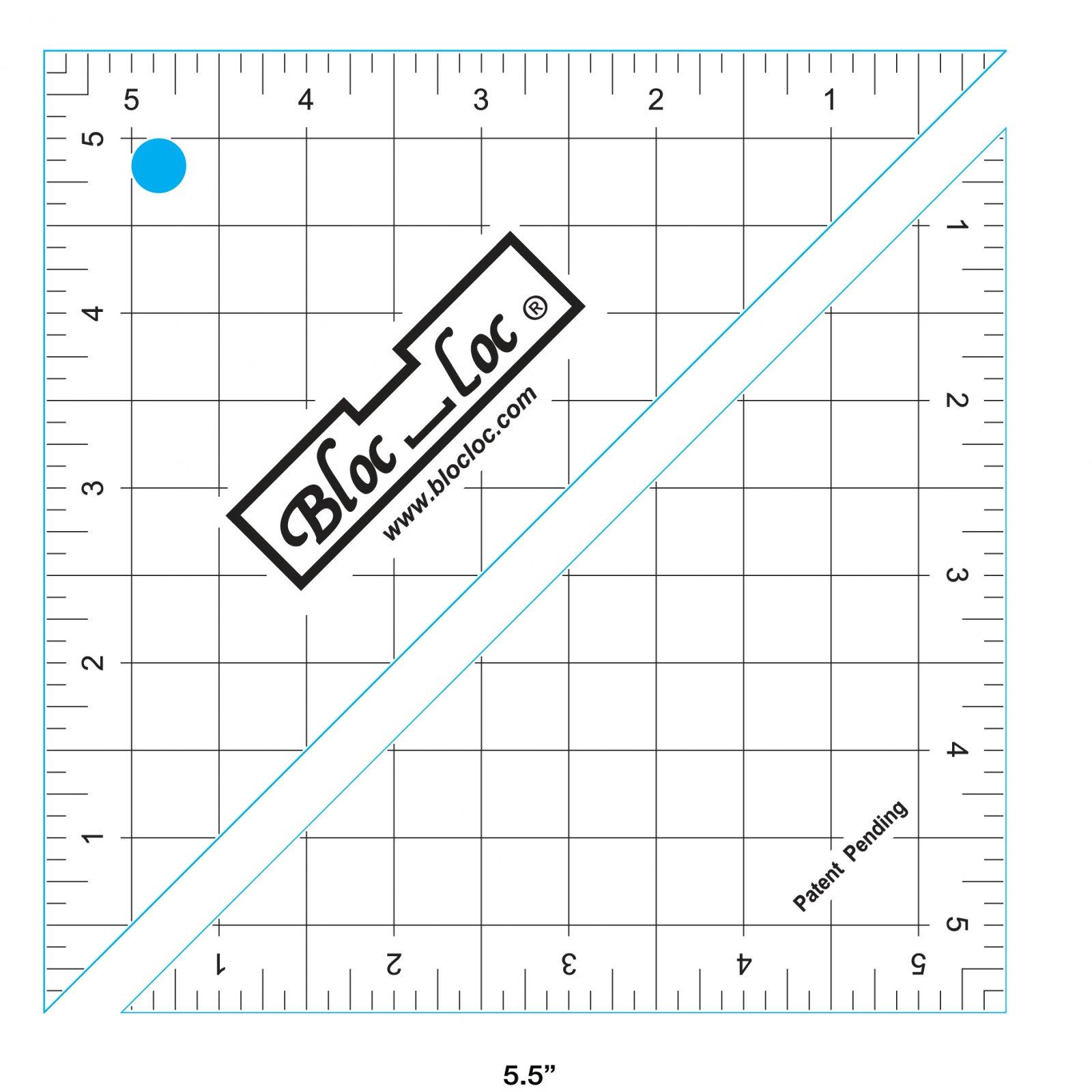 Bloc Loc - Half Square Triangle Ruler (5.5)