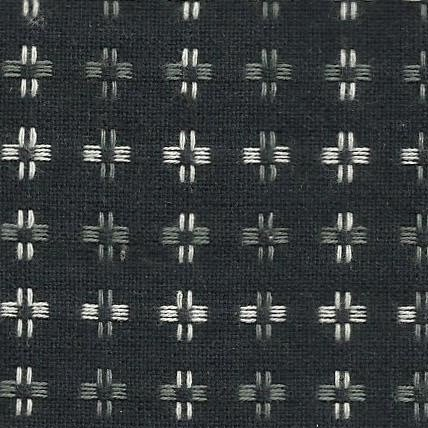 Diamond Textiles Basket Weave - Pluses and Crosses (Dark Grey)
