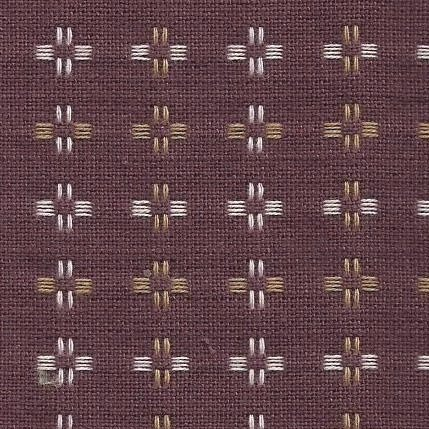 Diamond Textiles Basket Weave - Pluses and Crosses (Rust)