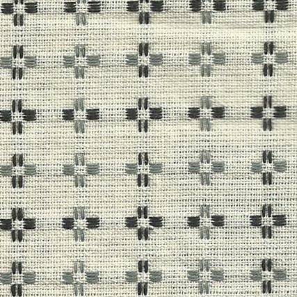 Diamond Textiles Basket Weave - Pluses and Crosses (White)