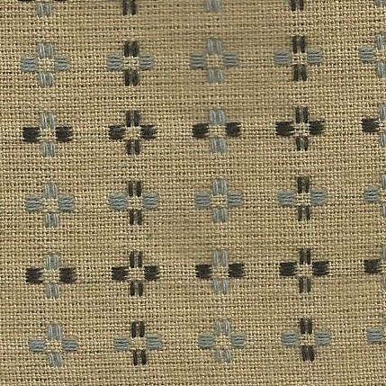 Diamond Textiles Basket Weave - Pluses and Crosses (Tan)