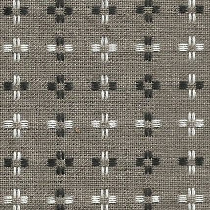 Diamond Textiles Basket Weave - Pluses and Crosses (Taupe)