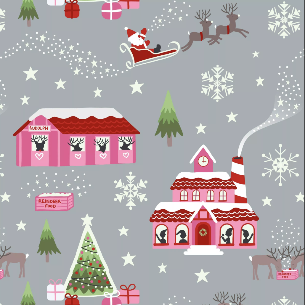 Lewis & Irene Christmas Glow - North Pole (Grey)