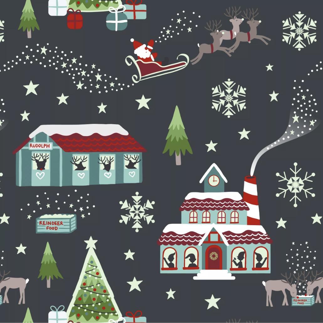 Lewis & Irene Christmas Glow - North Pole (Night-Time)