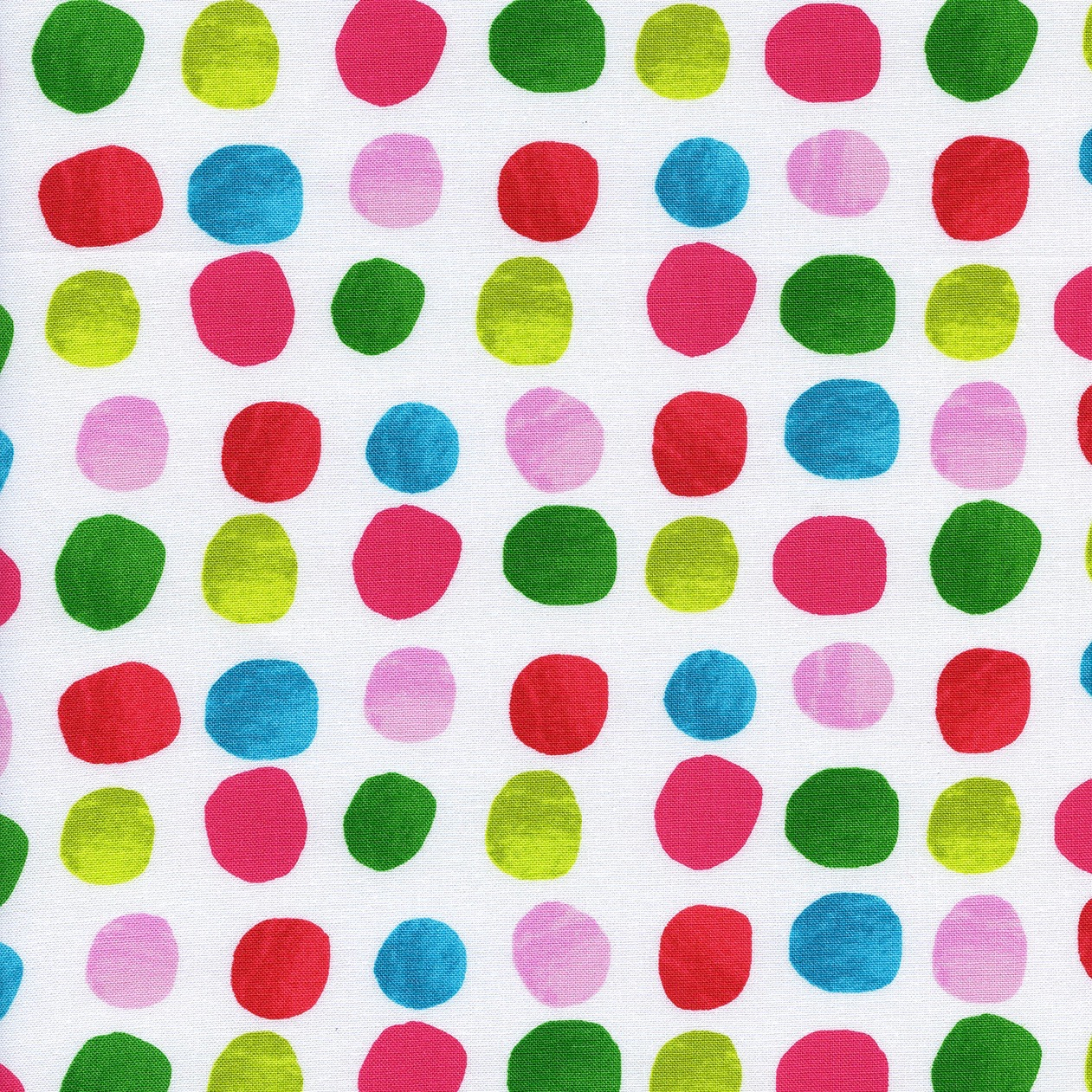 Cotton + Steel Noel - Painted Dots (Pink)