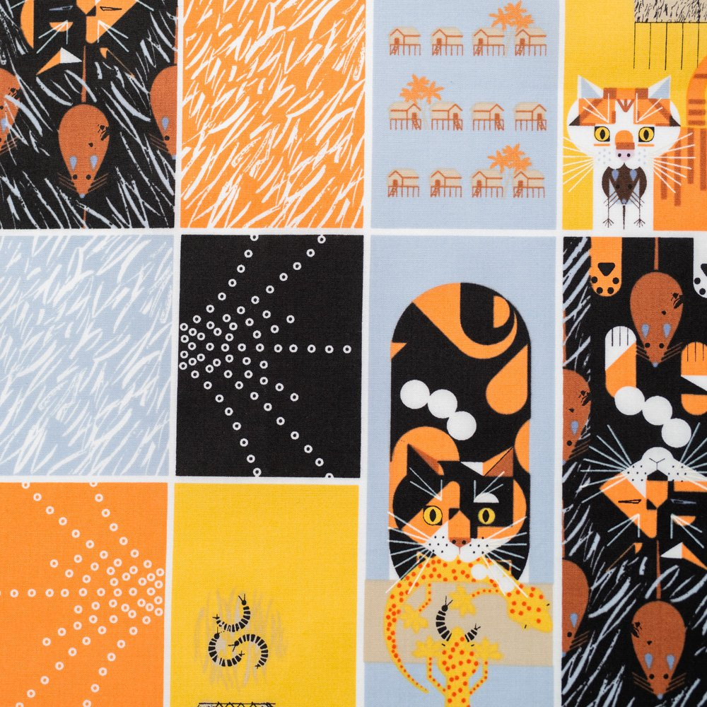 Charley Harper Cats & Raccs - Cat and Mouse
