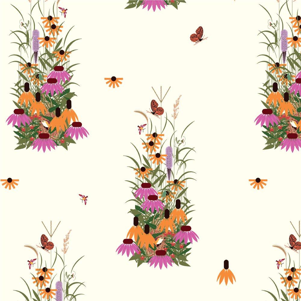 Charley Harper Summer Vol. 2 - Wildflowers (White)