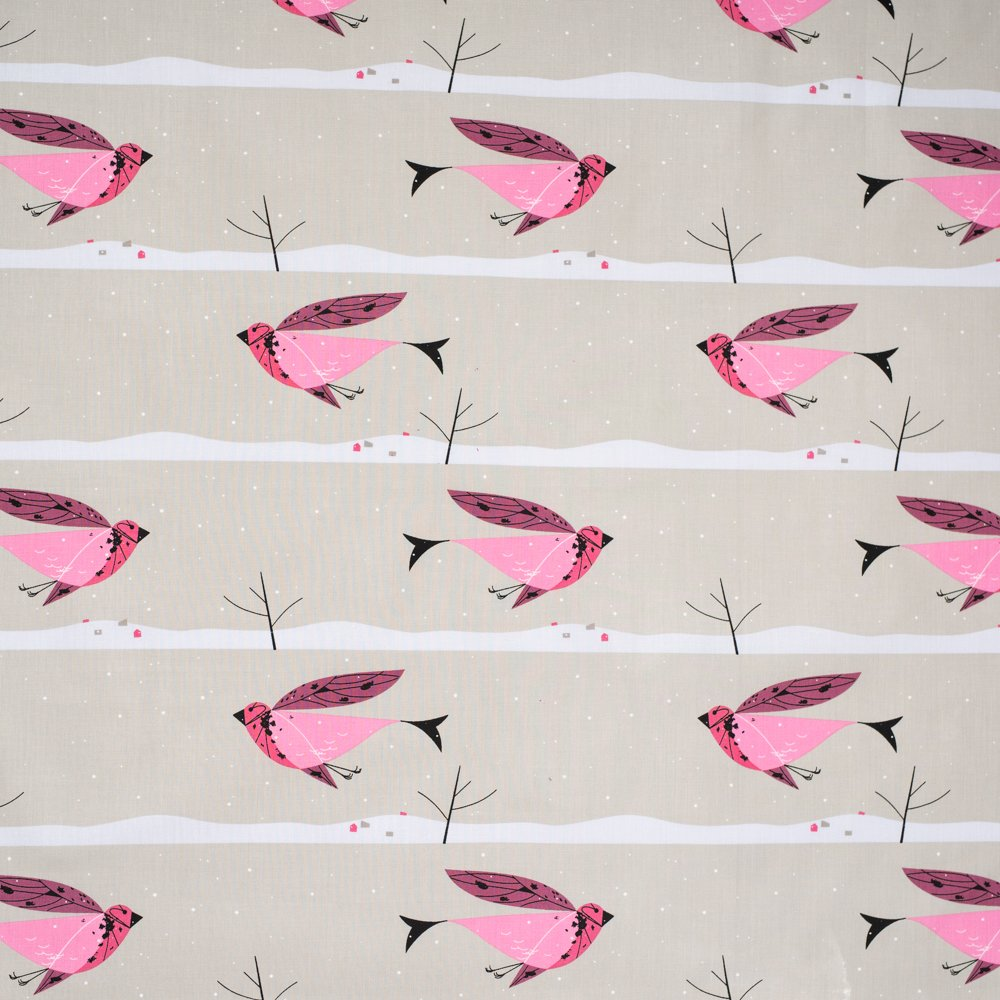 Charley Harper Winter Wonderland - Purple Finch