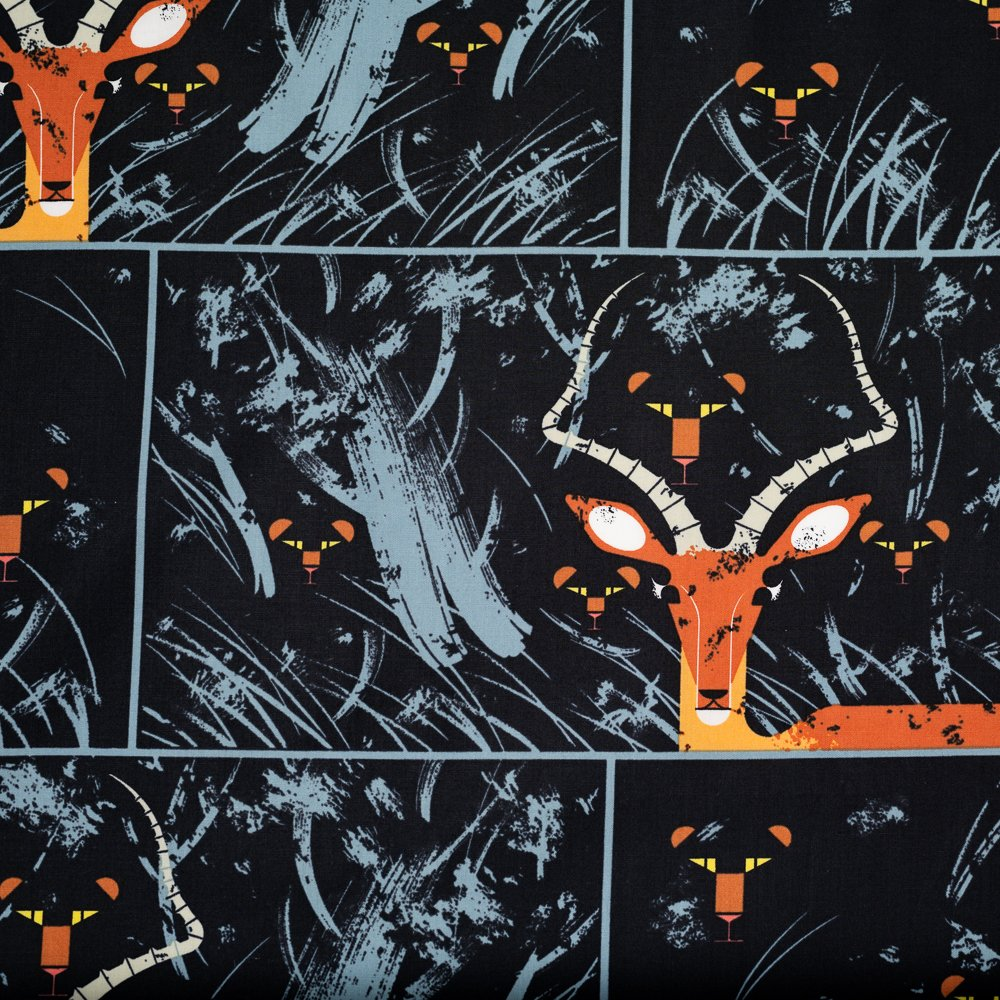 Charley Harper Halloween - Night Gazelle (Black)