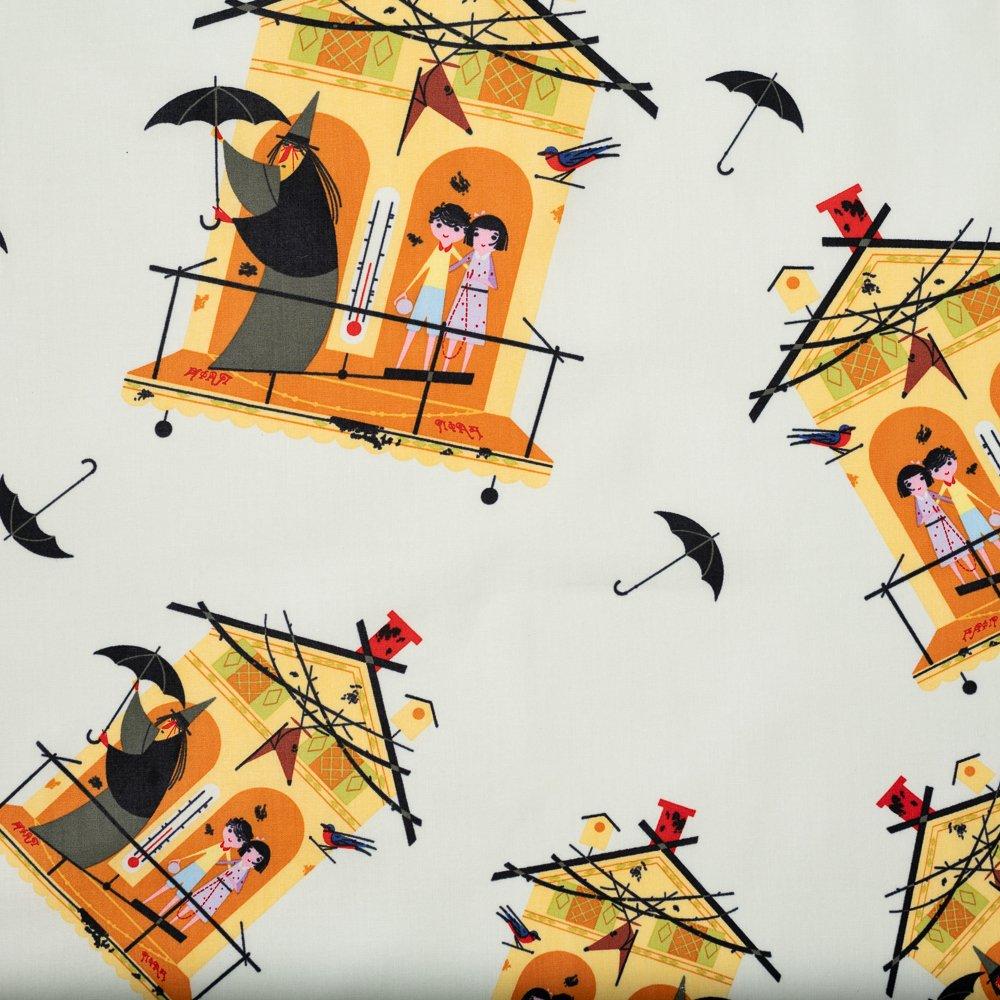 Charley Harper Halloween - Fair Weather Friends (Yellow)