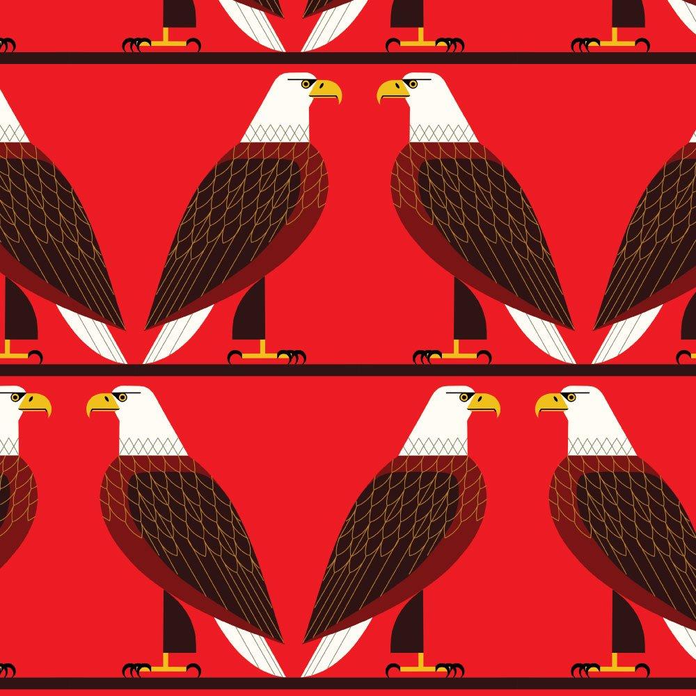Charley Harper Summer Vol. 2 - Bald Eagle (Red)