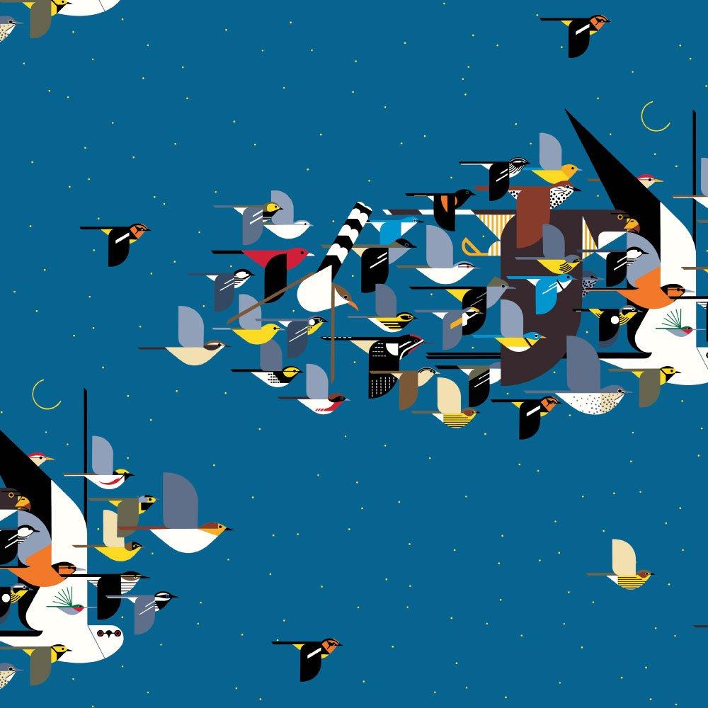 Charley Harper Summer Vol. 2 - Missing Migrants (Blue)