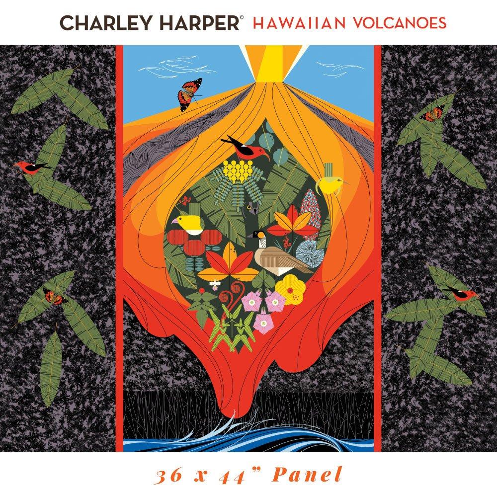 Charley Harper Hawaiian Volcanoes - Hawaiian Volcanoes Panel