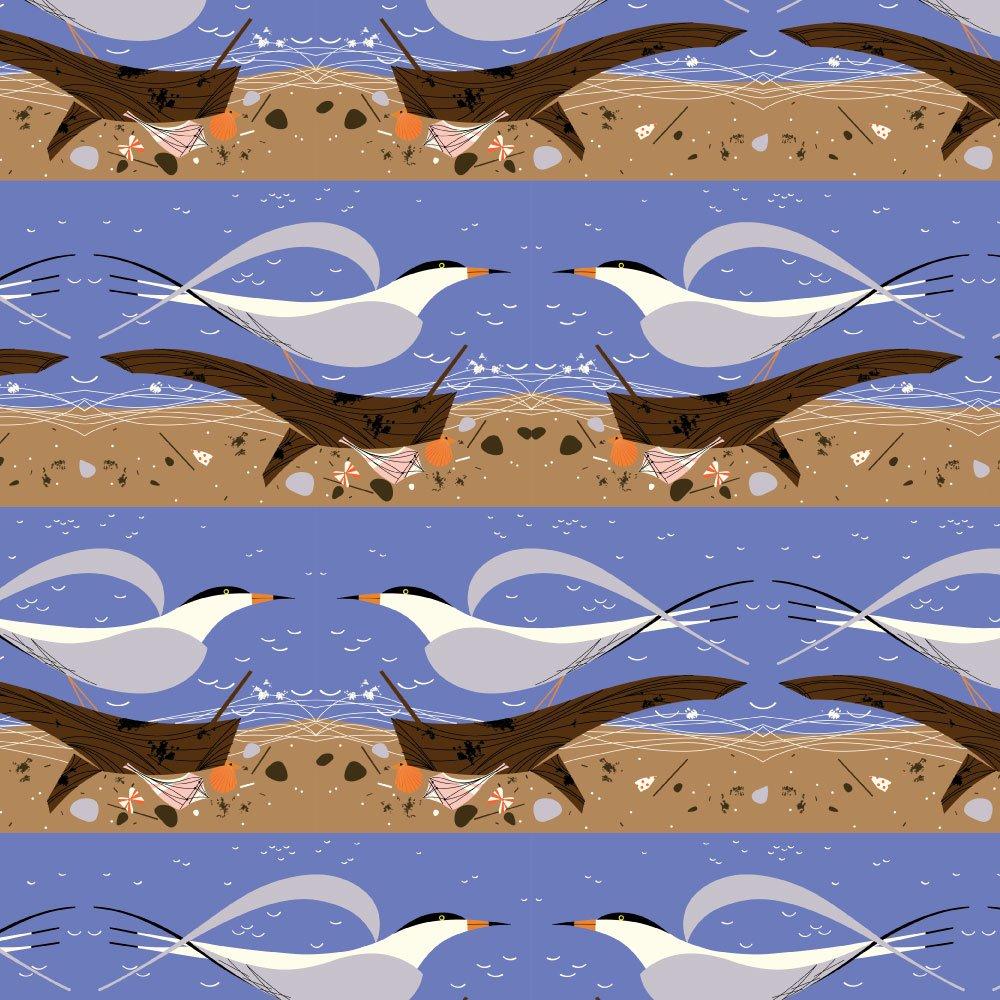 Charley Harper Coastal - Ternscape (Blue)