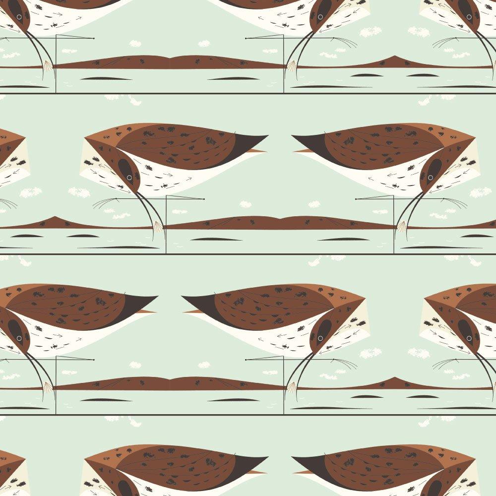 Charley Harper Coastal - Cerlew (Brown)