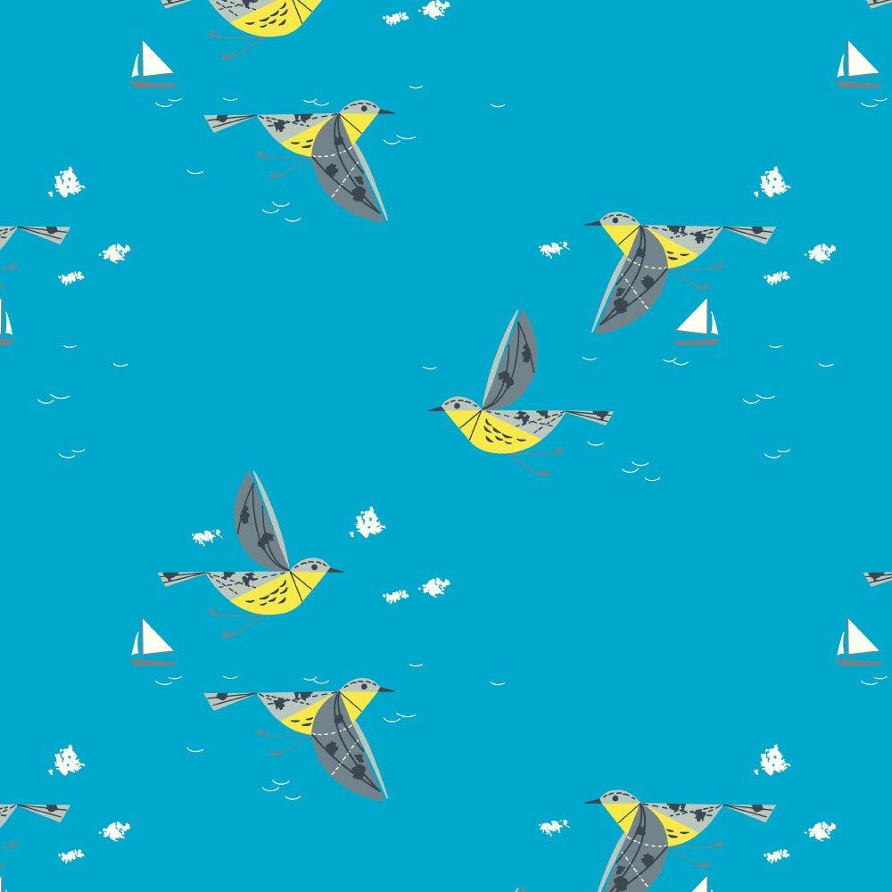 Charley Harper Coastal - Caribbean Cruisers (Aqua)