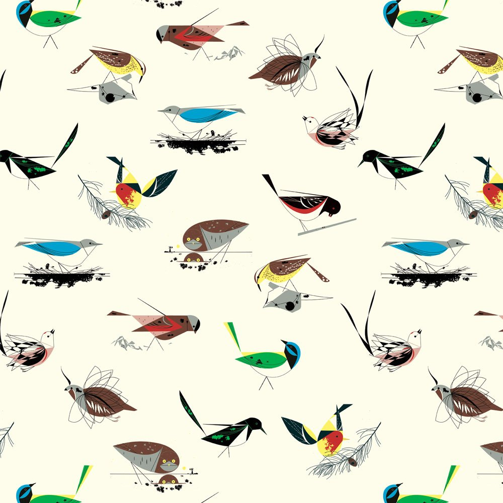 Charley Harper Western Birds - Western Birds (White)