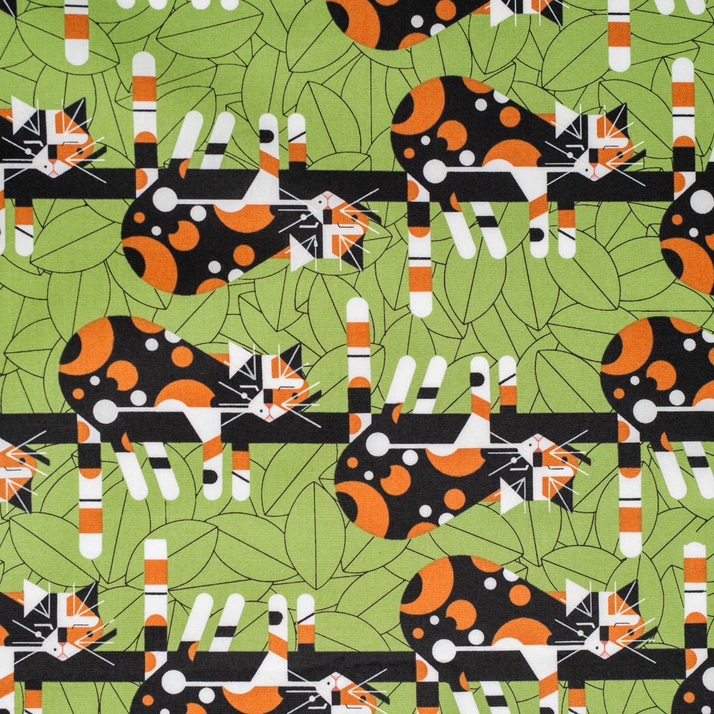 Charley Harper Cats & Raccs - Limp On A Limb