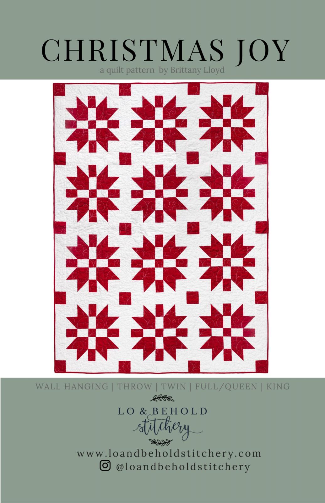 Christmas Joy Quilt Pattern