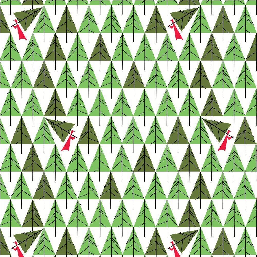 Charley Harper Holidays - Geo Trees