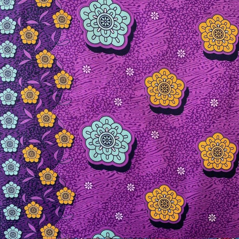 Three Yard Cut African Wax Block Fabric (Algeria)