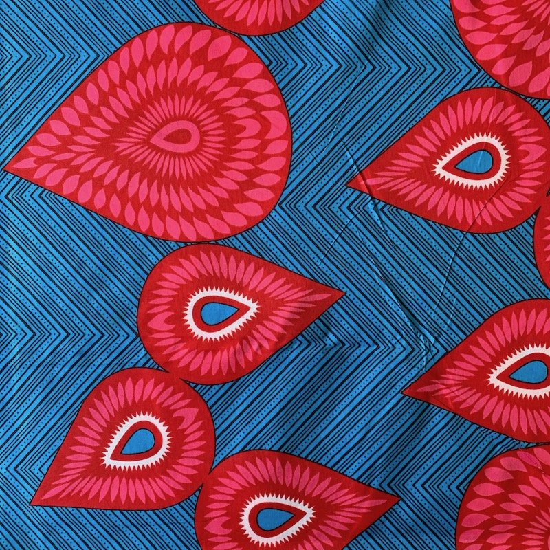 Three Yard Cut African Wax Block Fabric (Benin)