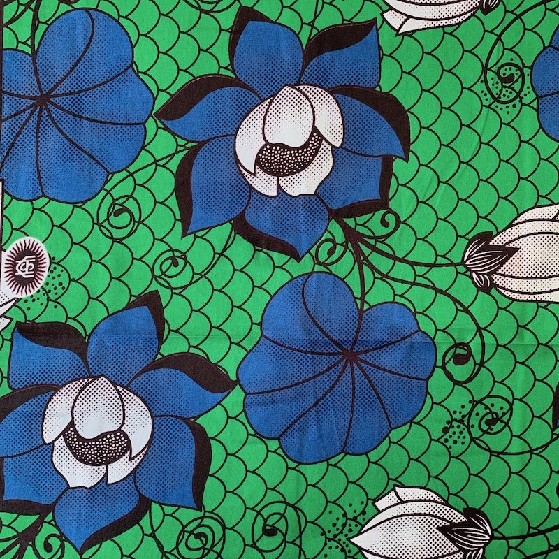 Three Yard Cut African Wax Block Fabric (Burkina Faso)