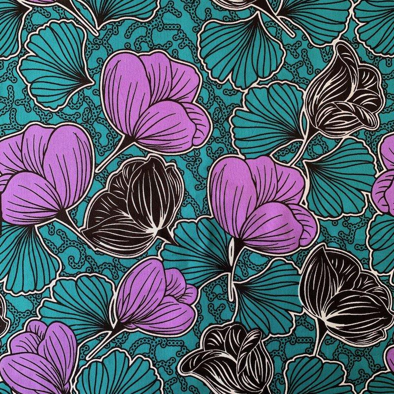 Three Yard Cut African Wax Block Fabric (Burundi)