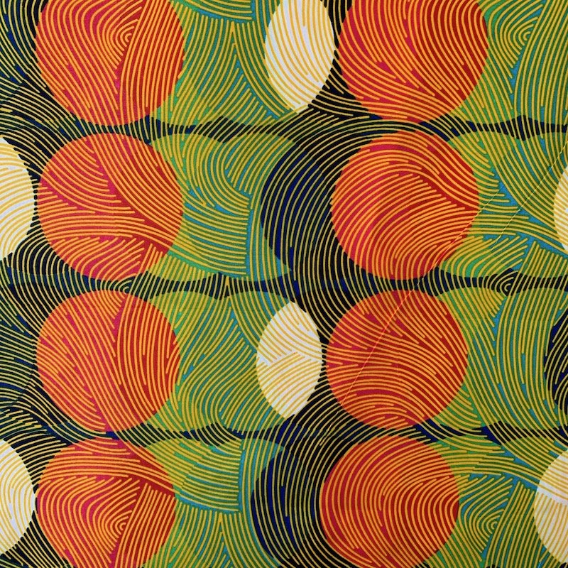 Three Yard Cut African Wax Block Fabric (Chad)