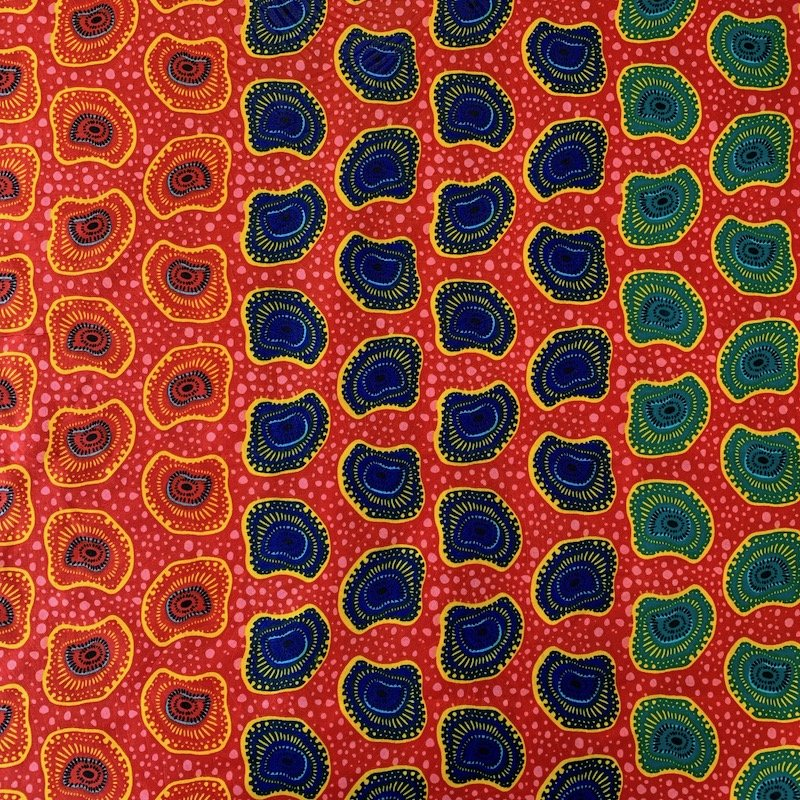 Three Yard Cut African Wax Block Fabric (Democratic Republic of the Congo)