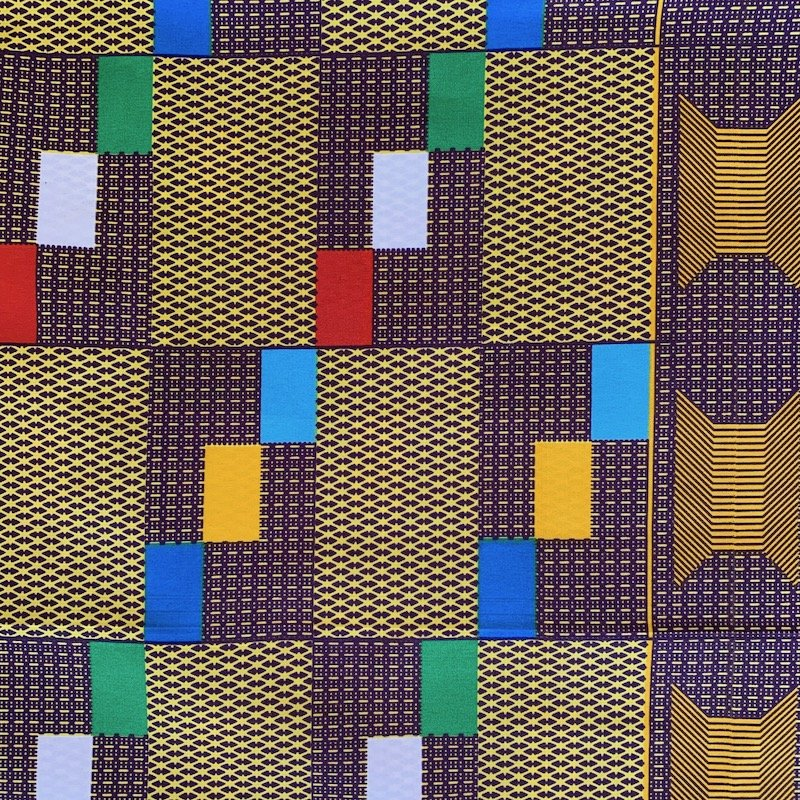 Three Yard Cut African Wax Block Fabric (Cote d'Ivoire)