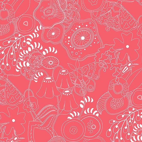 Alison Glass Hopscotch - Grow (Guava Punch)