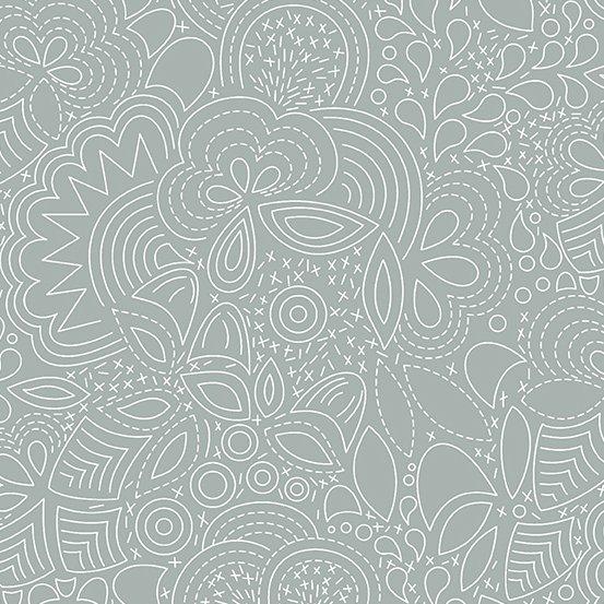 Alison Glass Hopscotch - Grow (Smoke)