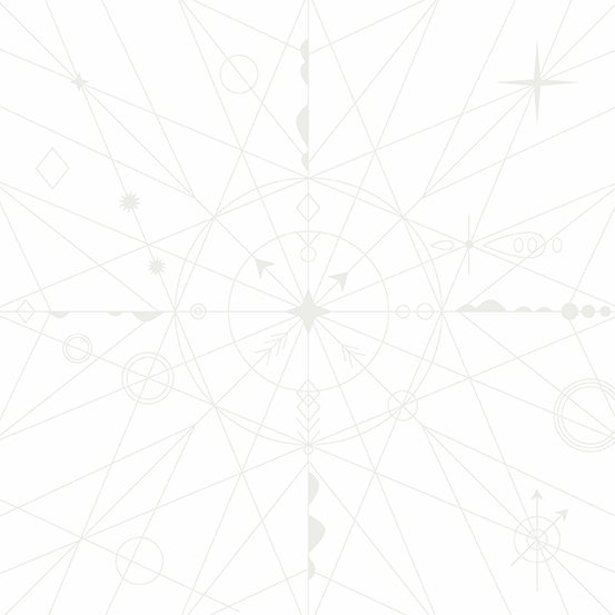 Alison Glass Hopscotch - Compass (Cottonball)