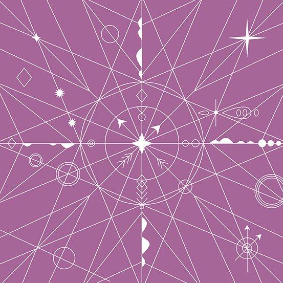 Alison Glass Hopscotch - Compass (Orchid)