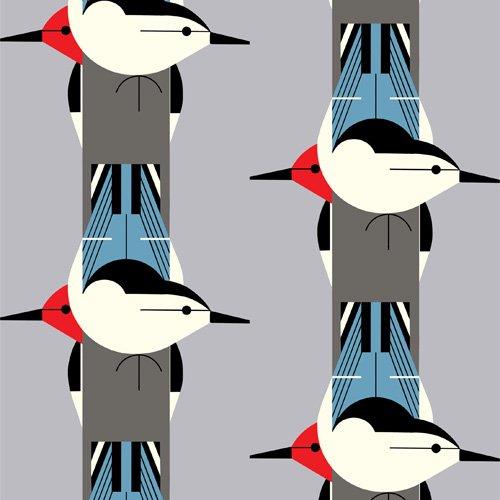 Charley Harper Canvas 2020 - Upside Downside (Gray)