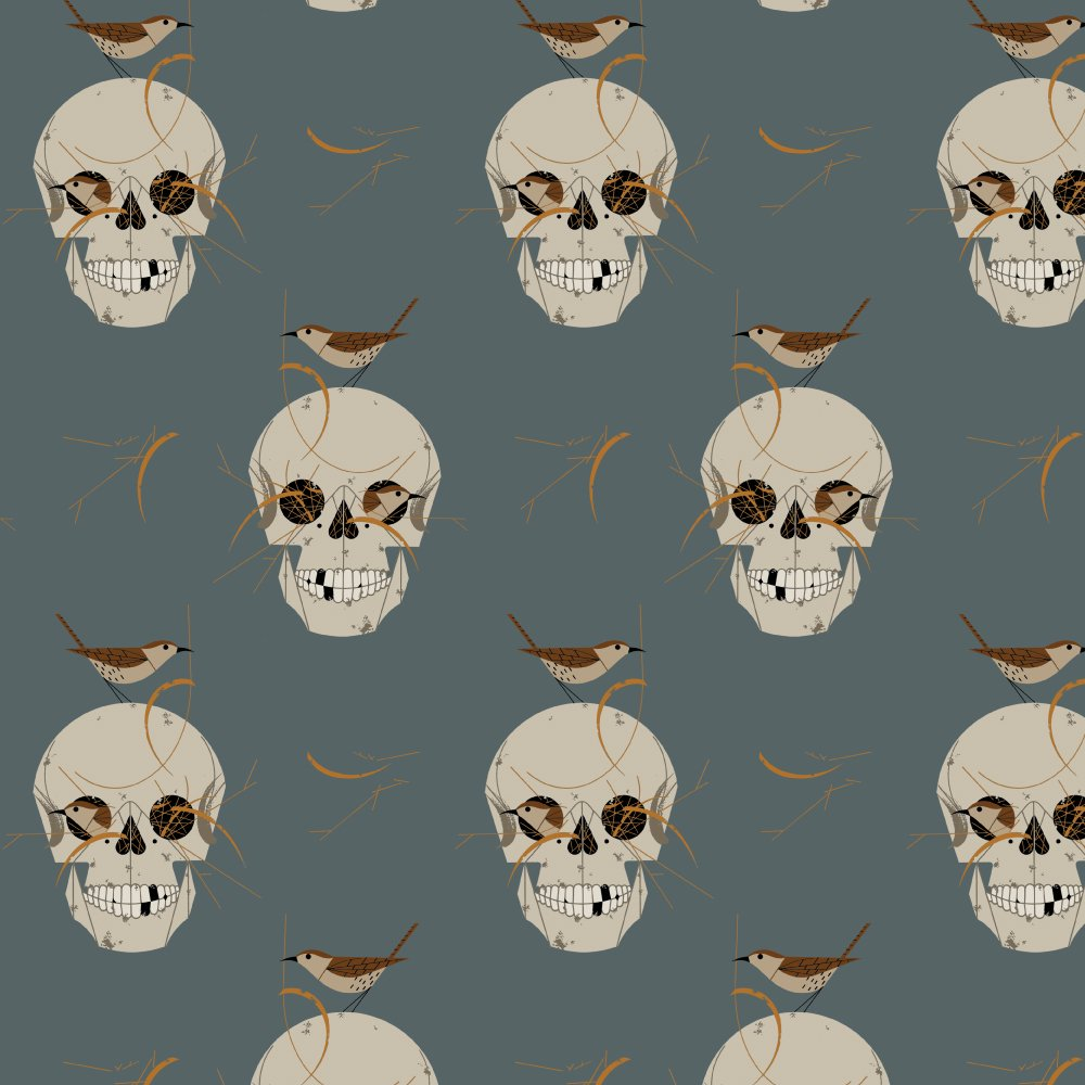Charley Harper Canvas 2020 - Wrented (Gray)