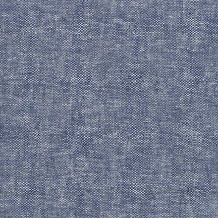 Robert Kaufman Yarn Dyed Essex Linen (Denim)