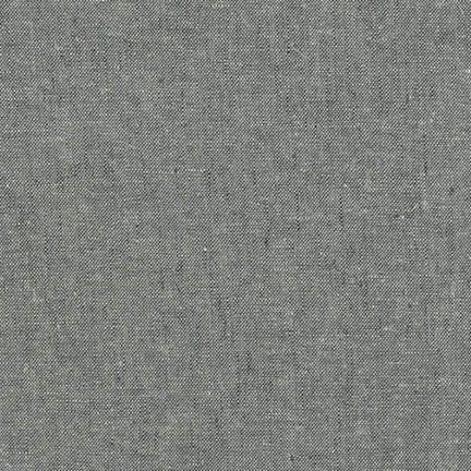 Robert Kaufman Yarn Dyed Essex Linen (Graphite)