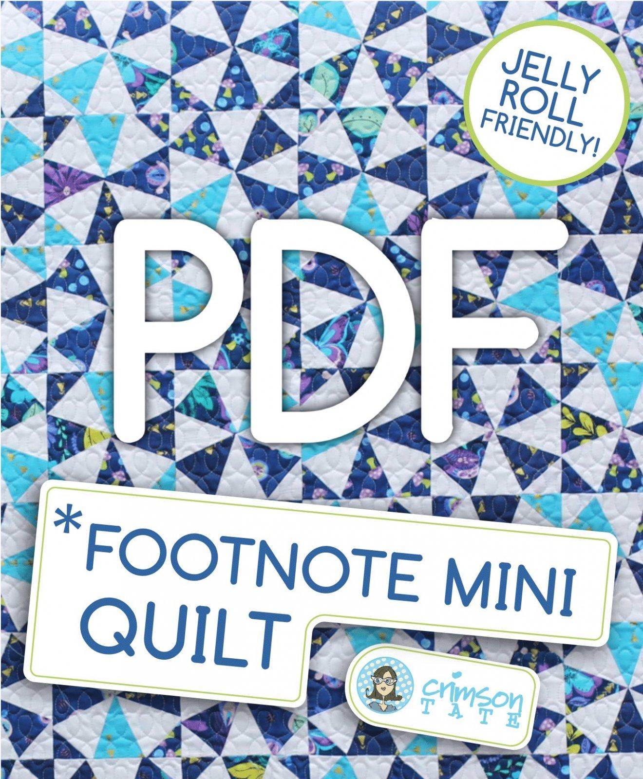 Footnote Mini Quilt Pattern (PDF Download)