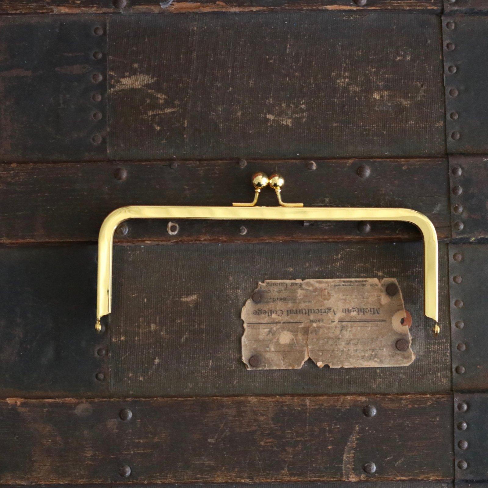 8 x 3 Ball Clasp Purse Frame (Gold)