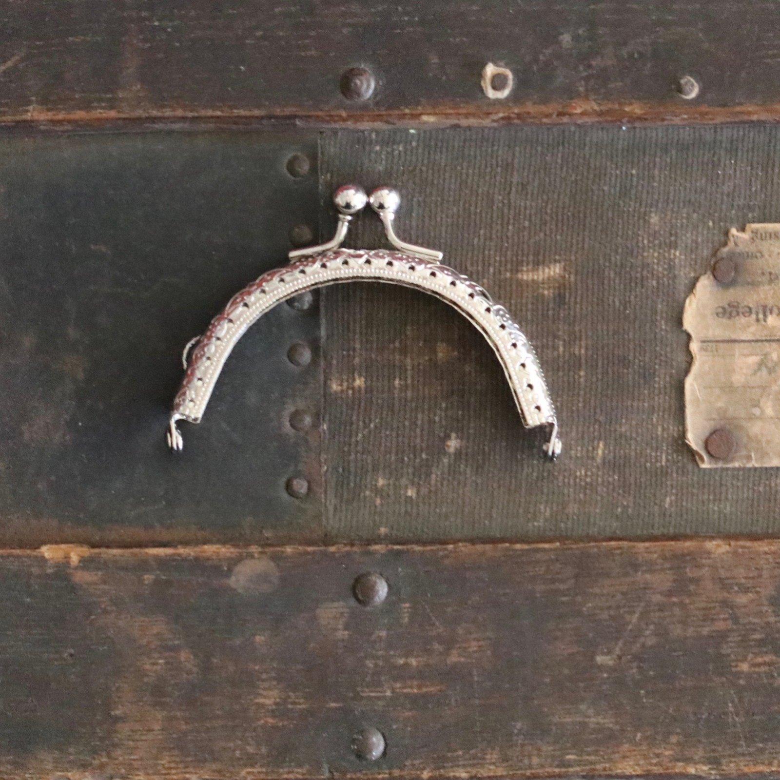 3 3/8 Half Round Purse Frame (Nickel)
