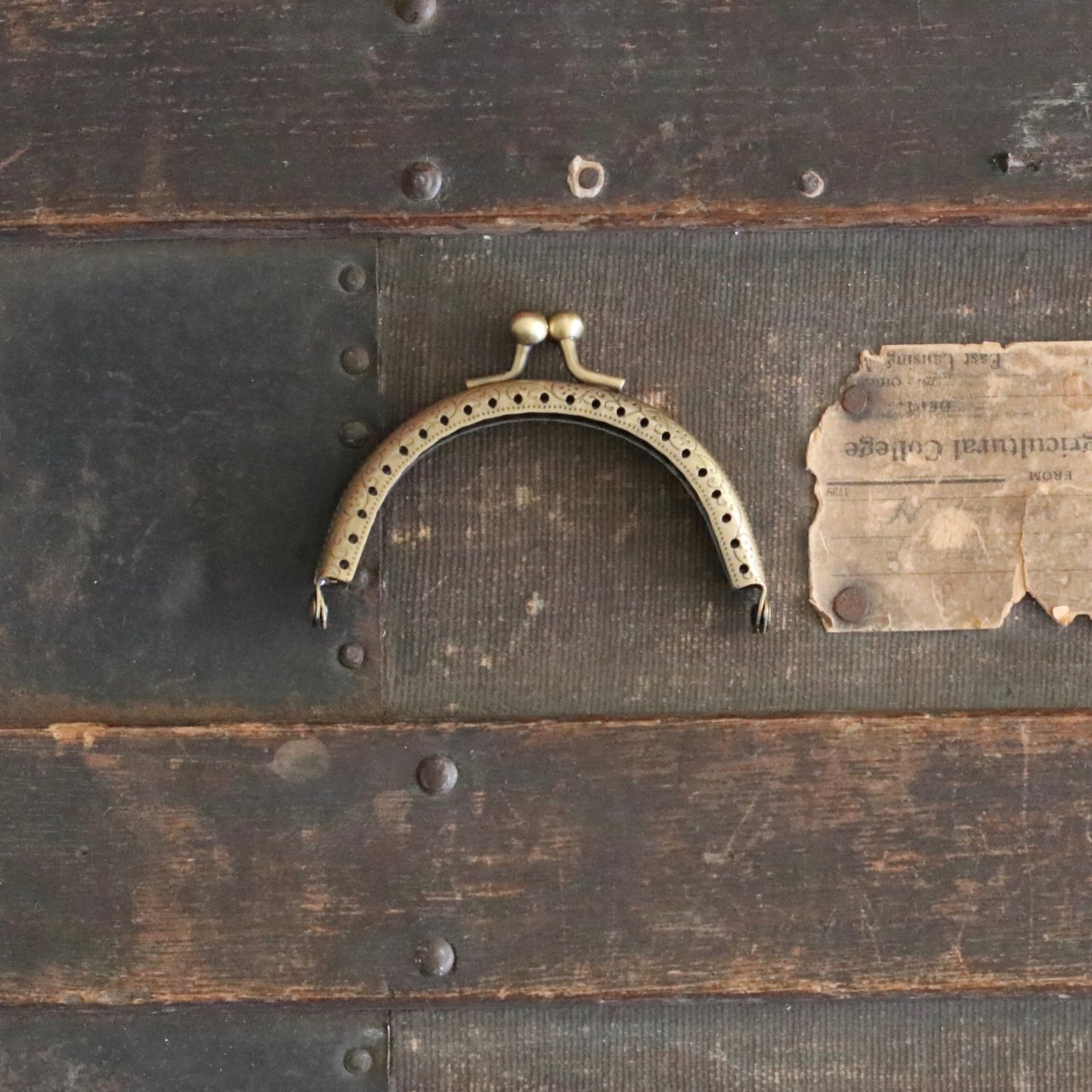 3 3/8 Half Round Purse Frame (Antique Brass)