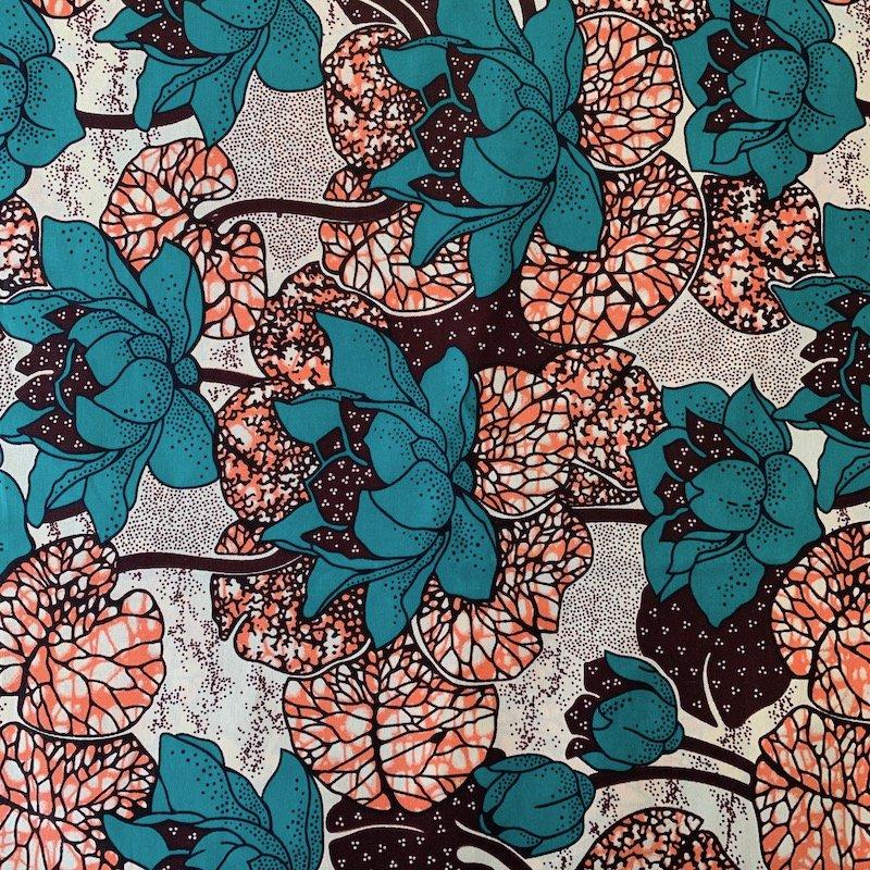 Three Yard Cut African Wax Block Fabric (Kenya)