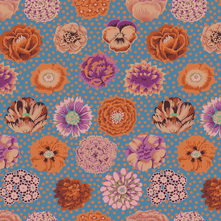 Kaffe Fassett Collective - Big Blooms (Turquoise)
